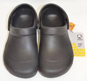 d124e502 Crocs Bistro Clog Black Shoes Oil & Slip Resistant Non-Marking Men 5 ...