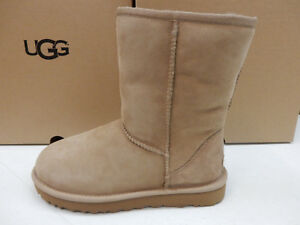 Image is loading UGG-WOMENS-BOOTS-CLASSIC-SHORT-II-FAWN-SIZE-
