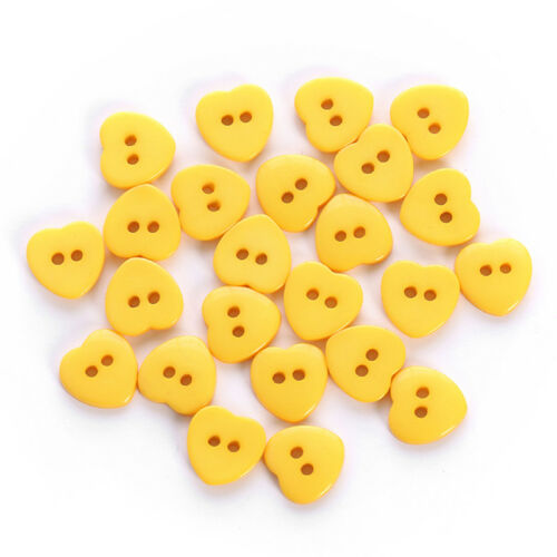 24pcs//Bag Heart Mixed Colors Resin Buttons Fit Sewing or Scrapbooking JB