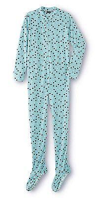 M- Plus Size 3X Womens Pajamas Zip Up Footed Adult Onesie Zipper One Piece Feet