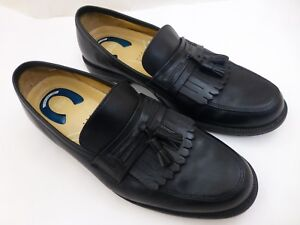 Men S Nunn Bush 81485 01 Black Leather Loafers Tassels