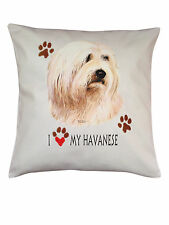 Havanese Heart Breed of Dog Cotton Cushion Cover - Perfect Gift