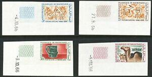 MAURETANIEN 1966 Tourismus und Archäologie postfr. Kab.-Satz ABARTEN: UNGEZÄHNT