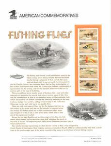 #364 29c Fishing Flies Panel #2545-49 USPS Commemorative Stamp Panel