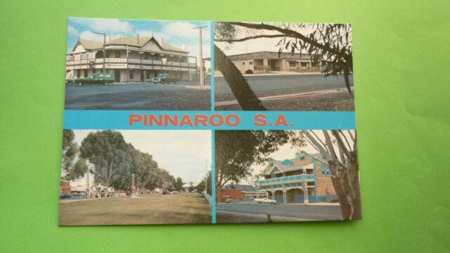 OLD 1970s AUSTRALIAN POSTCARD, PINNAROO SOUTH AUSTRALIA, VIEW OF THE TOWN