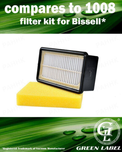 By Green Label For Bissell 1008 Filter Kit 2032663 Compares to 2032662