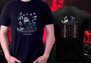 Details about Korn Alice in Chains Tour 2019 Black t shirt S - 3XL  metallica korn slayer