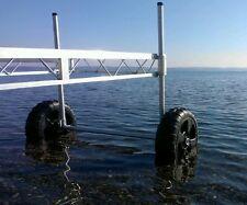 Aluminum dock Roll in dock wheel kit