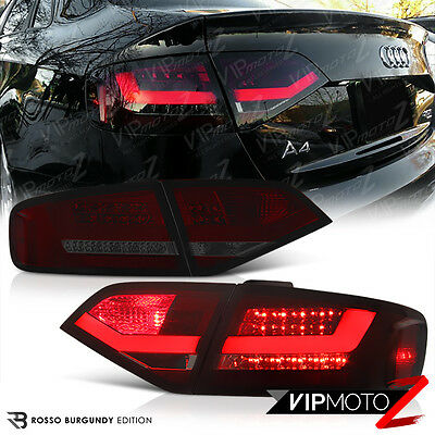 2009-2012 A4 S4 Quattro B8 Sedan BURGUNDY RED LED SMD Rear Tail Light Trunk Lamp