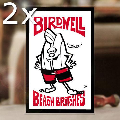 "2x pieces Birdwell Beach Britches sticker decal hot rod surf Hawaii 5.75/"""