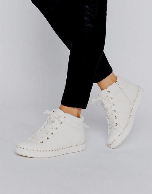 BN Beautiful Designer ALDO Drina Blanc High Top Trainers Sneakers 10