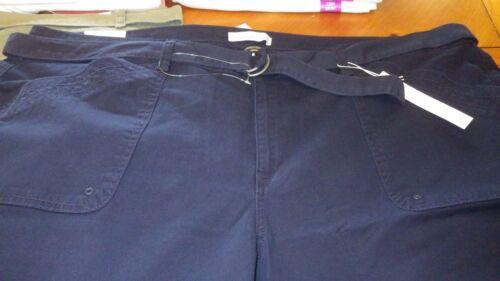 Womens Walking Shorts Stretch Twill Fabric Plus Sz Gloria Vanderbilt NEW WITH TA