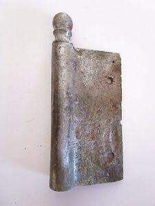 1 Ancienne Fiche à Larder-en Fer Forgé-antique Iron Door Hinges-19è Fabrication Habile