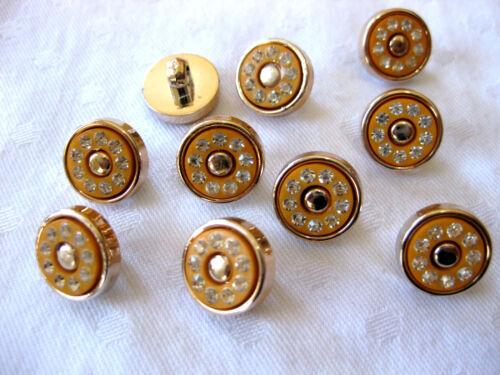 k103 color elegibles 10 botones con brillo-pedrería 13mm