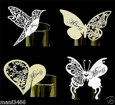 Name Place Card Holder Wedding Party Table Number Quality Wine Glass Decoration