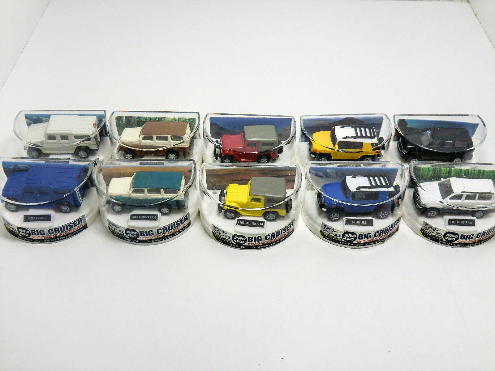 BOSS Coffee BIG CRUISER Mini Car Model Selection (10) Complete Set TOYOTA