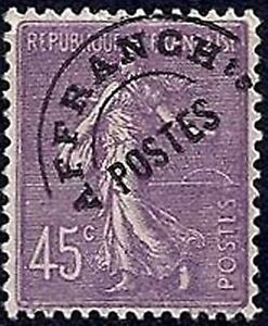 Francia-Stamp-Sello-Matasellado-Yvert-N-46-034-Sembradora-45c-Lila-034-Nueva-Xx