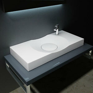 Design Gussmarmor Mineralguss Waschbecken Waschtisch Waschplatz