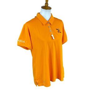 Adidas-Golf-Women-039-s-AJGA-Tournament-Otter-Creek-GC-UPF-50-Orange-Polo-Shirt-XL