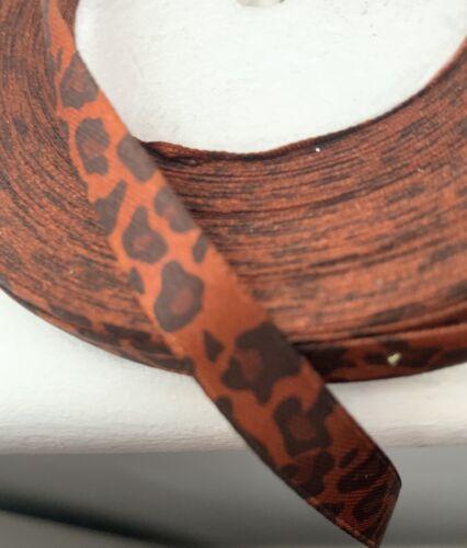 Cinta grográn 10mm Animal Print Tigre de impresión de 5 M