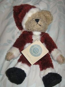 "10/"" Boyds Investment Bear ST NIKLAS Plush Bear Jointed w//tags Santa Claus"