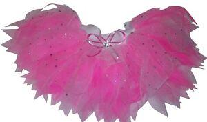 NEON-PINK-TUTU-SPARKLE-I-LOVE-80S-FANCY-DRESS-HEN-PARTY-PRINCESS-FAIRY-BOOK-WEEK