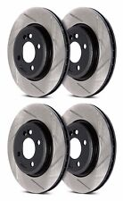 STOPTECH MITSUBISHI EVO X 10 MR GSR FRONT AND REAR SLOTTED BRAKE ROTORS DISCS