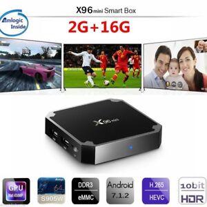 MINI X96 1+8G Nougat 4K Quad Core Smart S905W TV BOX WIFI MINI PC Media Android