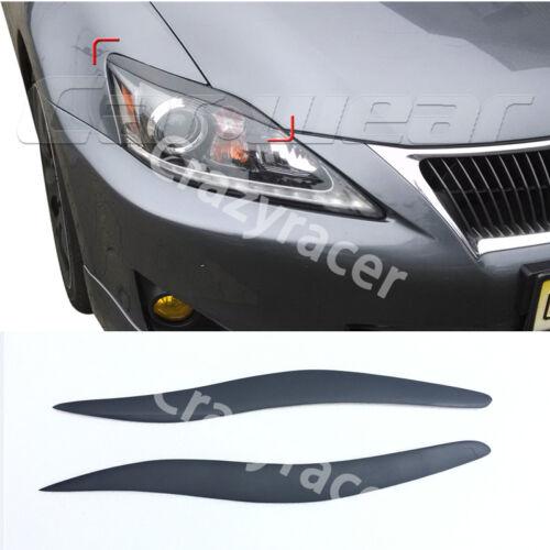 Matt Black Front Headlight Cover Eyelid Eyebrow for Lexus IS250 IS300 06-12