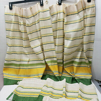 vintage sears perma prest kitchen cafe curtain valance set