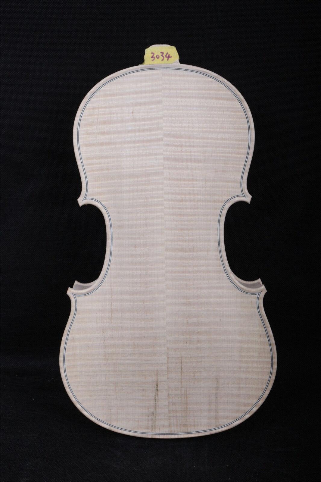 Cuerpo de violín 4 4 llama de de de arce ruso Tapa de abeto blancoo violín cuerpo  3013  venta caliente