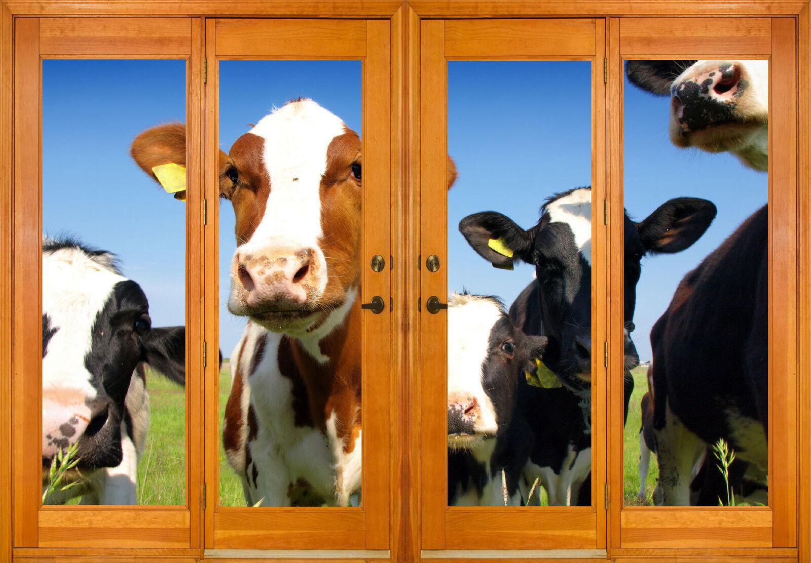 Aufkleber Fenster Schein Auge Kühe Ref 2540 (10 Größe)