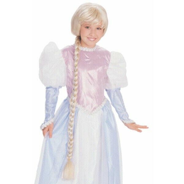 Rapunzel Braided Wig Childs Girls Disney Tangled Hair Princess Long Braid Blonde For Sale Online Ebay