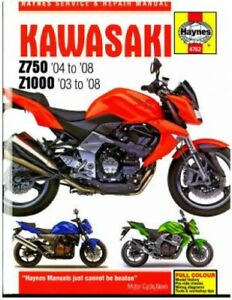 details about haynes kawasaki 2004 2008 z750 and 2003 2008 z1000 motorcycle repair manual  2004 kawasaki z1000 wiring diagram #11