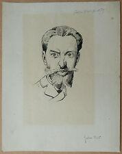 Dessin Original ANDRÉ GILL Caricature GUSTAVE RIVET Portrait Homme 1875 XIXe