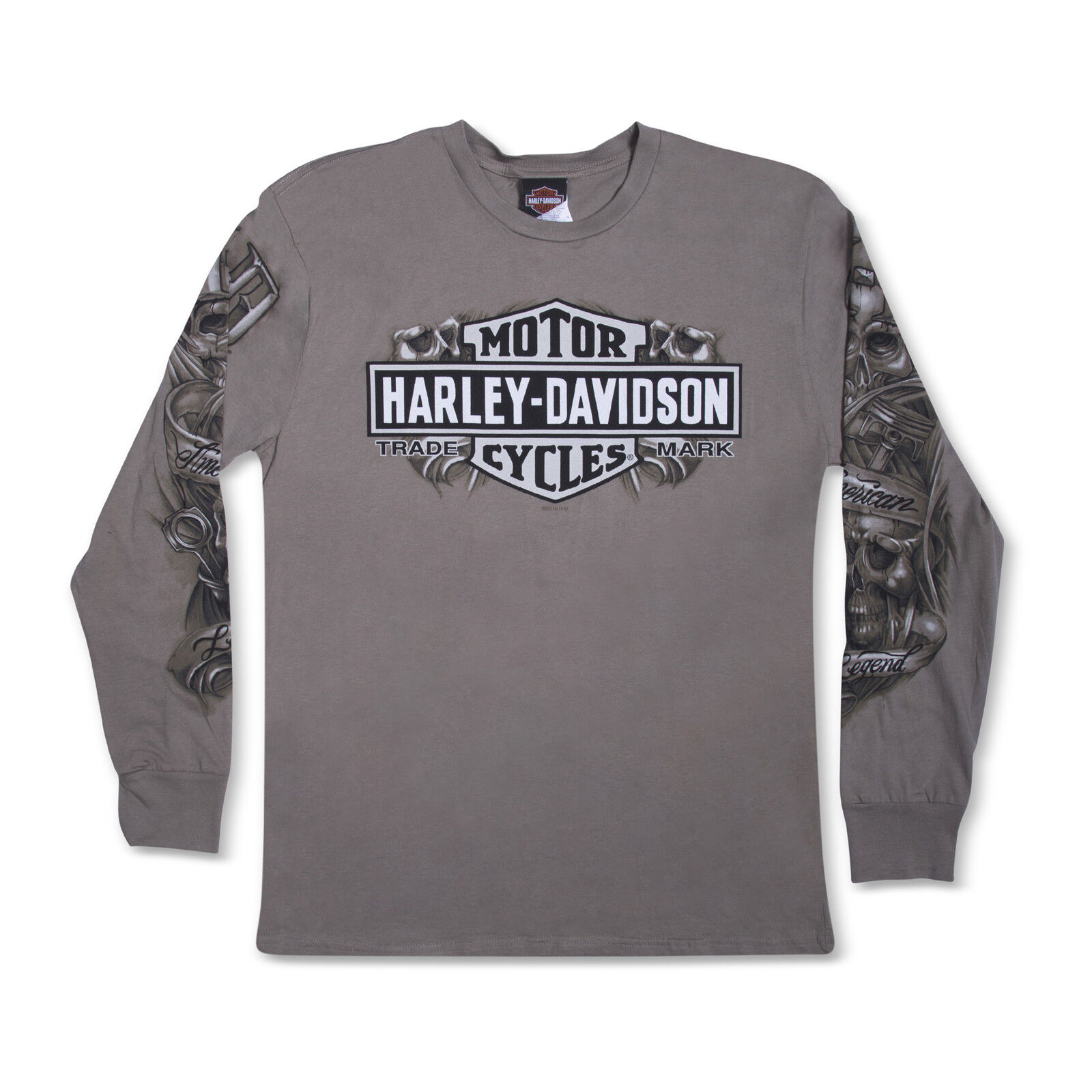 Harley-Davidson T-Shirt Biker Long Sleeves Men Woman Tel Aviv Israel grau