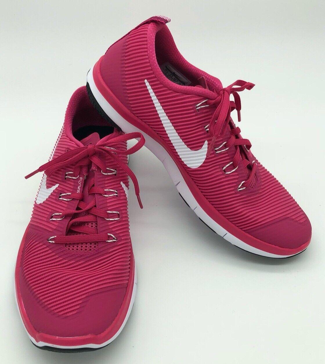 NEW Mens Size 10.5 / Womens Size 12 Nike Free Train Versatility Hot Pink Shoe