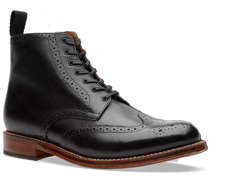 Uomo alla Caviglia fatto Alta Stivali Neri CALATA, fatto Caviglia a mano Boot, Stivali neri con dettagli calata 33f65d