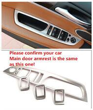 Interior Door Armrest Decoration Cover Trim Steel 4pcs For BMW X6 E71 2009-2014