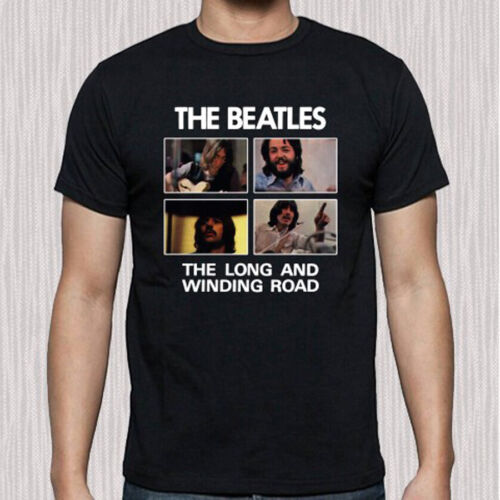 The Beatles The Long And Winding Road Music Men/'s Black T-Shirt Size S to 3XL