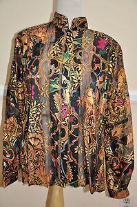 The vintage Silk Autentica stilista 100 Farm 10 camicetta taglia 5EqE7zUZ