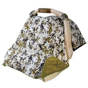 NEW Carseat Canopy Baby Infant Car Seat Cover Hawkslee w Attachment Straps Mink