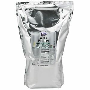 Details about NOW Foods 100% Natural Vanilla Whey Protein 10lb Bag FRESH/NEW