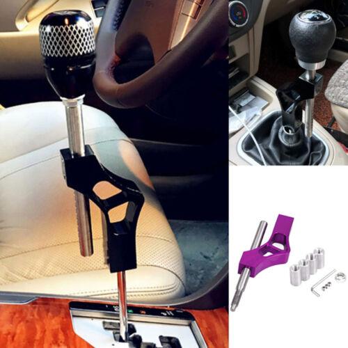 Car Aluminum Shift Knob Extension Lever Extender Adjustable Height Gear Shifter