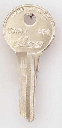 KABA ILCO 101AM-AP1 Key Blank,Brass,Type AP1,6 Pin,PK10