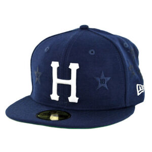 HUF-034-Classic-H-All-Star-034-New-Era-Fitted-Hat-Insignia-BL-Men-039-s-5950-Fitted-Cap
