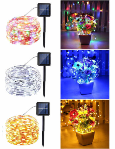 Solar Powered 10M//33FT 100LED Copper Wire Outdoor String Fairy Light Home Decor