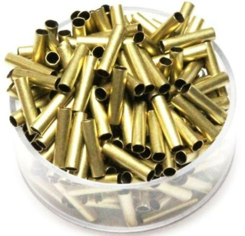 "BRASS /"" TUBE SPACER/"" 2 MM I//D X 10 MM LENGTH   Pkg Of 100  Solid Raw Brass"