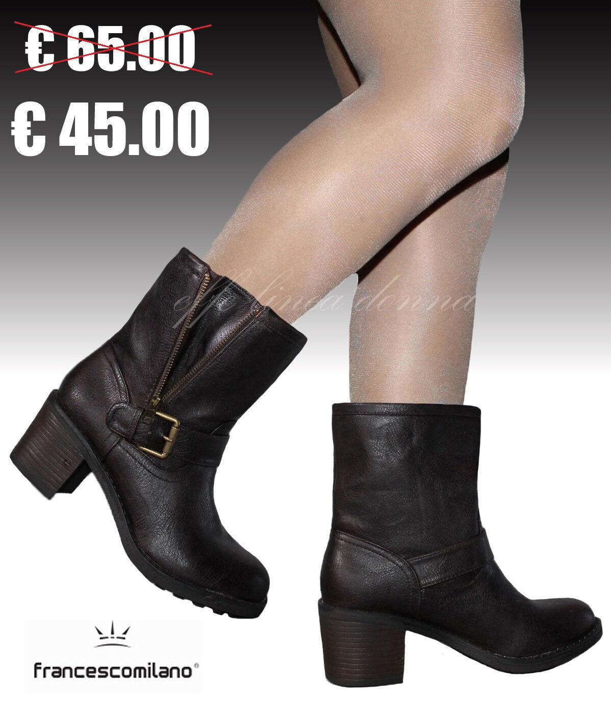Stivali Stivaletti 38 Biker boots Donna FRANCESCO MILANO  37 38 Stivaletti 39 40 41 1b5ba4
