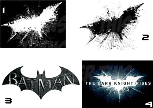 BATMAN DARK KNIGHT IRON ON HEAT TRANSFER  TSHIRT OR STICKER WALL DECAL lot DK
